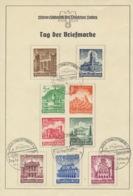 Deutsches Reich 751/59 Auf Gedenkblatt Sonderstempel Berlin-Charloittenburg - Deutschland