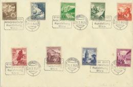 Deutsches Reich 675/83 Auf Blankobrief Stempel Wien-Nordwestbahnhalle - Storia Postale