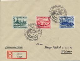 Deutsches Reich 695/97 Auf R-Brief Sonderstempel Nürbungring - Storia Postale