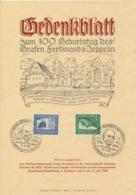 Deutsches Reich 669/70 Auf Gedenkblatt Sonderstempel Konstanz - Deutschland