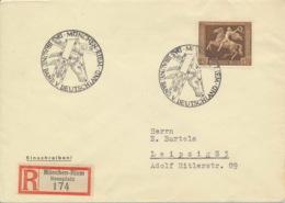 Deutsches Reich 671 Auf R-Brief Sonderstempel München-Riem - Storia Postale
