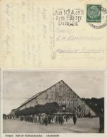 Deutsches Reich 516 Auf Karte Schwabenhalle Stuttgart Werbestempel - Deutschland
