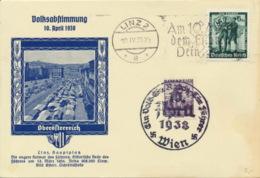 Deutsches Reich 663 +Österreich 567 Auf Sonderkarte Sonder- Und Werbestempel - Deutschland