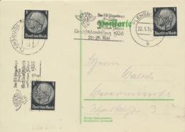 Deutsches Reich 3x512 Auf Karte Werbestempel Flensburg - Storia Postale