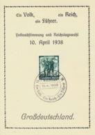 Deutsches Reich 663 Auf Soinderkartre Sonderstempel Breslau - Deutschland