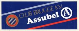 AUTOCOLLANTS . STICKER .  FOOTBALL . VOETBAL . CLUB  BRUGGE K.V. . ASSUBEL .  24  X  9  Cm - Autocollants