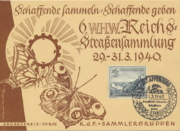Deutsches Reich 731 Auf WHW-Karte Sonderstempel Aschaffenburg - Deutschland