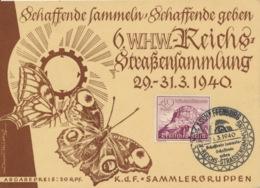 Deutsches Reich 738 Auf WHW-Karte Sonderstempel Aschaffenburg - Deutschland