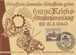 Deutsches Reich 730 Auf WHW-Karte Sonderstempel Aschaffenburg - Deutschland