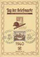 Deutsches Reich 730 Auf Sonderkarte Tag Der Briefmarker Sonderstempel Gera - Deutschland