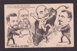 CPA Taureau Caricature Satirique Hérault Circulé - Bull