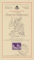 Deutsches Reich 811 Auf Gedenkblatt Sonderstempel Hamburg - Deutschland