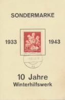 Deutsches Reich 859 Auf Sonderkarte Strempel Wien - Deutschland