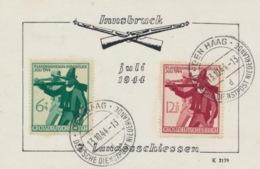 Deutsches Reich 897/98 Auf Sonderkärtchen Stempel Den Haag - Deutschland