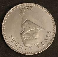 RHODESIE - RHODESIA - 20 CENTS 1977 - KM 15 - Rhodésie