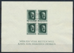 Deutsches Reich Block 8 O Sonderstempel Frankfurt - Germany