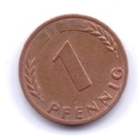 BRD 1967 F: 1 Pfennig, KM 105 - [ 7] 1949-… : RFA - Rep. Fed. Alemana