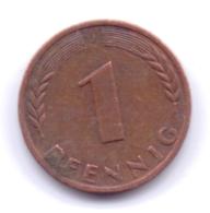 BRD 1967 J: 1 Pfennig, KM 105 - [ 7] 1949-… : RFA - Rep. Fed. Alemana