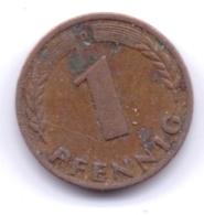 Bank Deutscher Länder 1949 D: 1 Pfennig, KM A101 - [ 7] 1949-… : RFA - Rep. Fed. Alemana