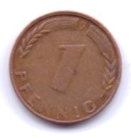 Bank Deutscher Länder 1949 J: 1 Pfennig, KM A101 - [ 7] 1949-… : RFA - Rep. Fed. Alemana