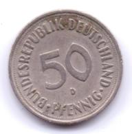 BRD 1950 D: 50 Pfennig, KM 109 - [ 7] 1949-… : RFA - Rep. Fed. Alemana