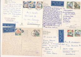 CASTELLI  Lotto Di 16 Cartoline VIA AEREA X L'AUSTRALIA - 6. 1946-.. Repubblica