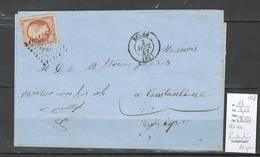 France - Lettre De Rouen Pour Constantine - Algérie - Yvert 16 Napoléon 40 Centimes - Poststempel (Briefe)