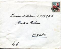 N°78812 -cachet Manuel -Figeac -Lot- Sur Coq Decaris 0,30 - Marcofilie (Brieven)