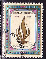 UNO Wien Vienna Vienne - 40 Jahre Menschenrechte (MiNr: 87) 1988 - Gest Used Obl - Oblitérés