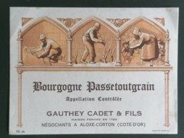 BOURGOGNE ETIQUETTE PASSETOUTGRAIN 73CL - Bordeaux