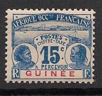 Guinée - 1906 - Taxe TT N°Yv. 10 - 15c Bleu - Neuf Luxe ** / MNH / Postfrisch - Guinea Francesa (1892-1944)