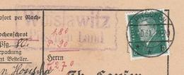 Deutsches Reich Karte Mit Landpoststempel Woislawitz Pitschen Land 1931 Kirchlinden Lk Kreuzburg OS Schlesien - Deutschland