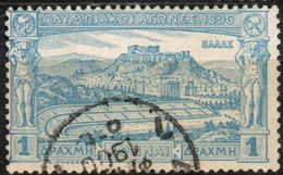Greece, Olympic Games 1896 Olympoic Staium & Acropolis 1 Value Cancelled - 2004.2205 - Summer 1896: Athens