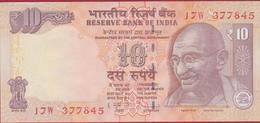 Reserve Bank Of India Mahatma Gandhi Ten 10 Rupees Tiger Rino Elephant Rinoceros Bankbiljet Billet Banknote - India
