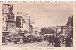 75 PARIS La Place Clichy ,façade Cinéma Gaumont ,publicité Saint Raphael - Arrondissement: 17