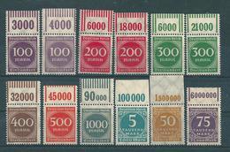 MiNr. 268-273 + 274-276 Oberrand  **  (0289) - Unused Stamps