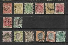 South Africa, Z.A.R., Transvaal 14 Used Stamps, Low Denomination, Low Catalogue Value - Transvaal (1870-1909)