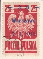 POLAND 1945 Warszawa Fi 348a Used - 1944-.... République