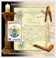 Romania Rumänien Delivery Within 4 Weeks MNH ** Ru 2020 - 45 B Grand Lodge Of Romania, 140 Years Since Its Establishment - 1948-.... Républiques