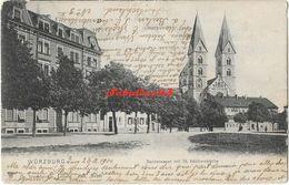 Wurzburg - Sanderwasen Mit St-Adalberokirche - 1904 - Wuerzburg