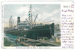 RO 96 - 15115 GALATI, Ship, Romania - Old Postcard - Used - 1903 - Romania