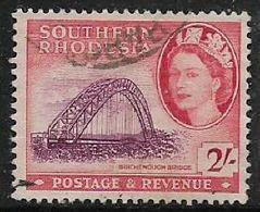 Southern Rhodesia, EIIR, 1953, 2/= Used - Südrhodesien (...-1964)