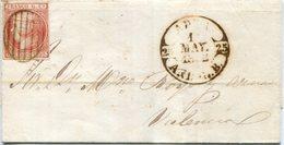 ISABEL II     Envuelta   Nº 12   Adra  -  262 - 1850-68 Reino: Isabel II