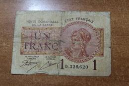 SAAR (France) 1 Franc 1919. RELEASE OF SALE - 1871-1952 Gedurende De XXste In Omloop