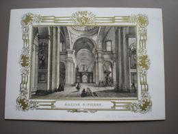 GENT - GAND - EGLISE ST. PIERRE - PORSELEINKAART 14 X 10 - Gent