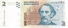 Argentina (BCRA) 2 Pesos ND (2010) Series L UNC Cat No. P-352a / AR405g - Argentine