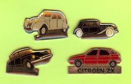 4 Pin's Citroen - #009 - Animaux