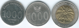 Indonesia - 1000 Rupiah - 1996 (KM56) 2010 (KM70) & 2016 - Pudja (KM74) - Indonesia