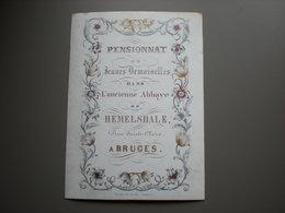 BRUGES - PENSIONNAT - ABBAYE HEMELSDALE - RUE SAINTE CLAIRE - PORCELEINKAART 10.5 X 14 - Brugge