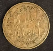 ETHIOPIE - ETHIOPIA - 10 SANTEEM 1969 (1977) - KM 45 - Antilope De Montagne - Nyala - Ethiopia